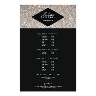 Silberner Glitter-und Glamour-Schönheits-Flyer 14 X 21,6 Cm Flyer