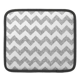 Silberner Glitter-Zickzack Stripes Zickzack Muster Sleeve Für iPads