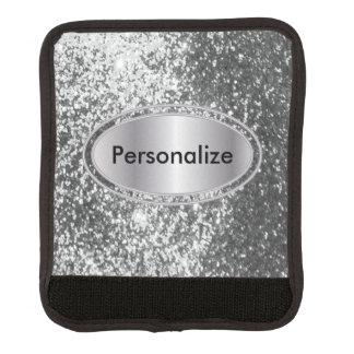Silberner Glitzer Bling - personifizieren Sie Gepäck Markierung