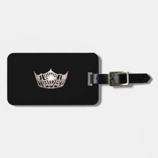 Silberner Kronen-Gepäckanhänger Miss Amerikas Gepäckanhänger