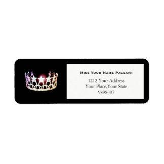 Silberner Kronen-Rücksendeadressen-Aufkleber