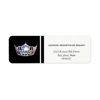 Silberner Kronen-Rücksendeadressen-Aufkleber Rücksendeetiketten