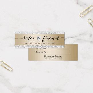 Silberner LuxusGlitter-modernes Gold der Mini-Visitenkarten