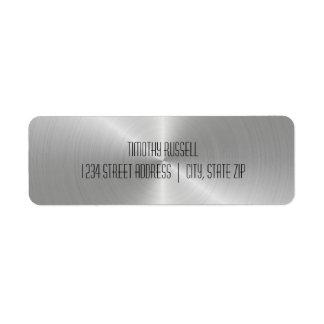 Silberner MetallGlanz - Adressen-Etiketten Rückversand-Adressaufkleber