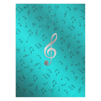silberner Musiknoten Tischdecke