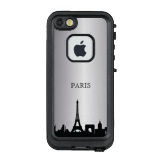 Silberner Paris-Skyline-Telefon-Kasten LifeProof FRÄ' iPhone SE/5/5s Hülle