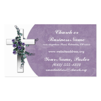 Silberner QuerwFlower Kirchen-Minister Visitenkart Visitenkarten