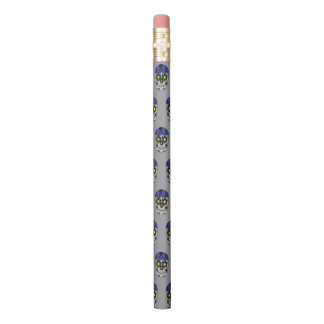 Silberner Radfahrer-Süßigkeits-Schädel-Bleistift Bleistifte 0
