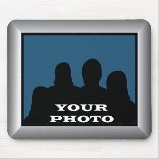 Silberner Rahmen Ihr Foto Mousepad