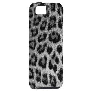 Silberner Schnee-Leopard-Druck iPhone 5 Fall iPhone 5 Cover