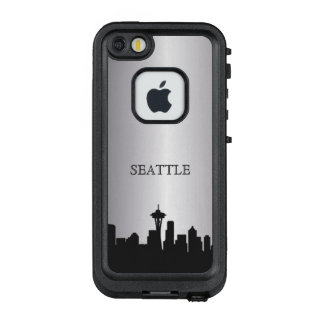 Silberner Seattle-Skyline-Telefon-Kasten LifeProof FRÄ' iPhone SE/5/5s Hülle