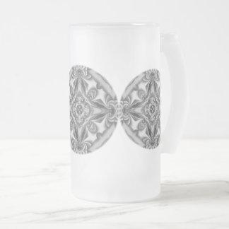 Silberner Silk Mandala-mattiertes Glas Mattglas Bierglas