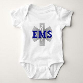 Silberner Stern des Lebens mit blauem EMS Baby Strampler