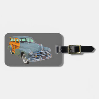 Silberner Streifen-Woodys Pontiacs antikes Auto Gepäckanhänger