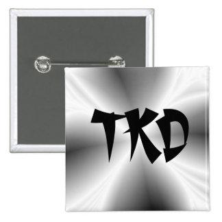 Silberner TKD Knopf des Imitat- Buttons