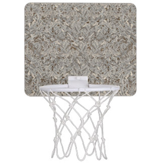 Silberner tropischer Druck Mini Basketball Ring