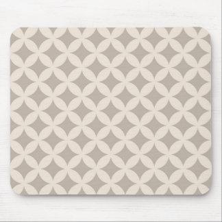 Silberner und SahneGeocircle Entwurf Mousepads