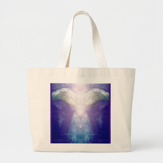 Silberner violetter Engel Jumbo Stoffbeutel