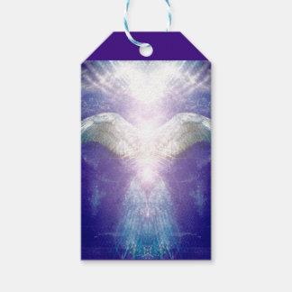 Silberner violetter Engelsgeschenkumbau Geschenkanhänger