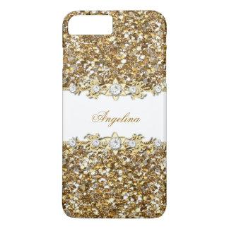 Silberner weißes GoldImitat-Diamant-Juwel-Glitter iPhone 7 Plus Hülle