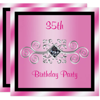 Schön 35 Geburtstag Einladungen | Zazzle.de, Einladungs
