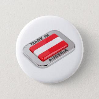 Silbernes Abzeichen hergestellt in Österreich Runder Button 5,7 Cm