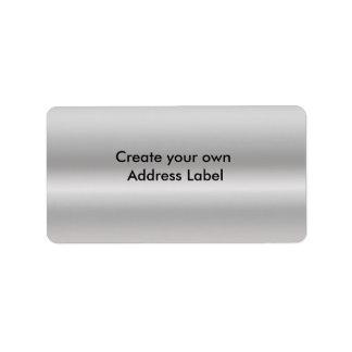 Silbernes Adressen-Etikett Adressaufkleber