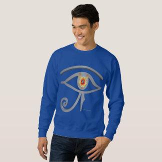 Silbernes Auge des Sweatshirts der Remänner