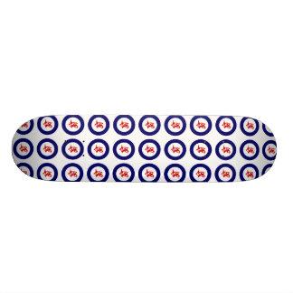 Silbernes Auge Tauhou, Roundel Personalisiertes Skateboarddeck