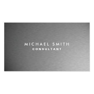 Silbernes berufliches Metallelegante moderne Ebene Visitenkarten