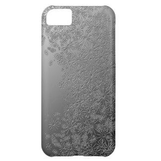 Silbernes Blumen iPhone 5C Hülle