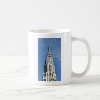Silbernes Chrysler-Gebäude Kaffeetasse