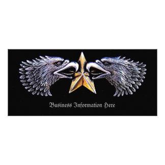 Silbernes Eagles- und Stern-Lesezeichen-Gestell Bedruckte Werbekarten