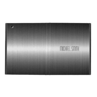 Silbernes Edelstahl-Metall 2 iPad Etui