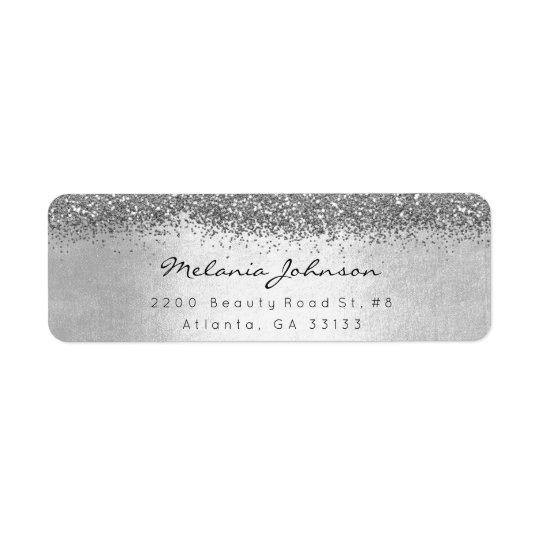 Silbernes funkelnd Glitter-Silber metallisch