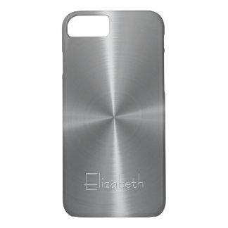 Silbernes glänzendes Stahlmetall iPhone 8/7 Hülle