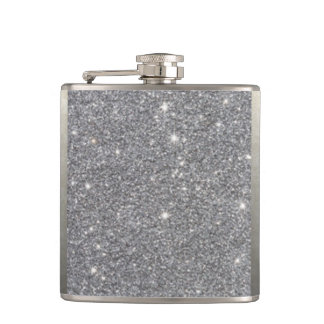 Silbernes Glitter-Muster Desgin Flachmann