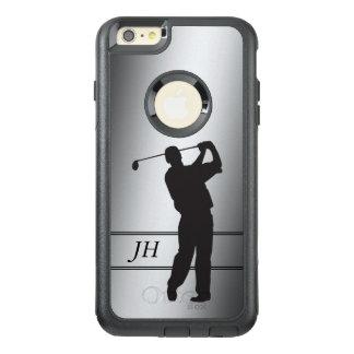 Silbernes Golfspieler-Monogramm OtterBox iPhone 6/6s Plus Hülle