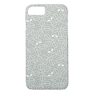 Silbernes Grau-Blatt u. Schmetterling iPhone 6 iPhone 8/7 Hülle