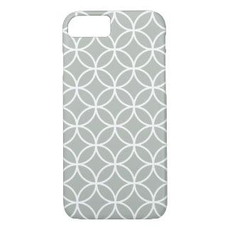 Silbernes Grau-geometrischer Gitter iPhone 7 Fall iPhone 8/7 Hülle