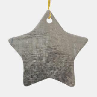 Silbernes Grau-vereitelter Gewebe-Blick Keramik Ornament