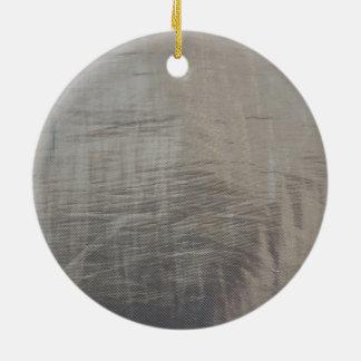 Silbernes Grau-vereitelter Gewebe-Blick Rundes Keramik Ornament