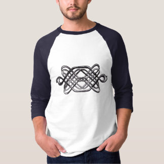 Silbernes Hexagon T-Shirt