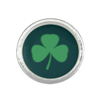 Silbernes irisches Kleeblatt-Klee-Ring-Geschenk Ring