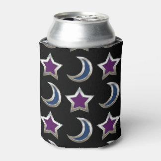 Silbernes lila blaue Stern-und Dosenkühler