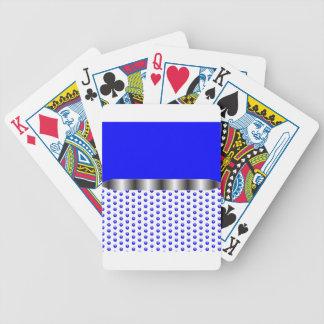silbernes Metallblaues Weiß Bicycle Spielkarten