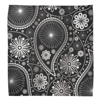 Silbernes Paisley-Muster Halstuch