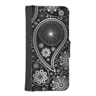 Silbernes Paisley-Muster iPhone SE/5/5s Geldbeutel