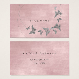 Silbernes Pulver erröten Ballett-rosa Visitenkarte