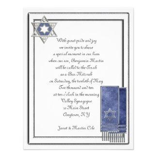 Silbernes Rahmen-Bar Mitzvah Einladungskarten